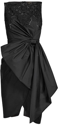 ZUHAIR MURAD Loly Lace & Bow Detail Sheath Dress