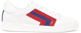 Valextra Super 3 Striped Leather Trainers - Womens - Red Multi