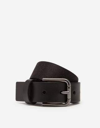 Dolce & Gabbana Nylon Webbing Belt With Rubber Elastic