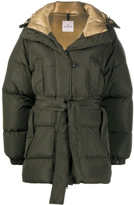 Moncler Hooded Belted Puffer Jacket