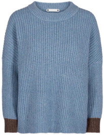 Co'couture - Row Knit - S (36-38) | blue | polyester - Blue/Blue
