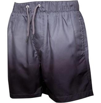 Brave Soul Junior Boys Zante Dip Dye Print Swim Shorts Grey