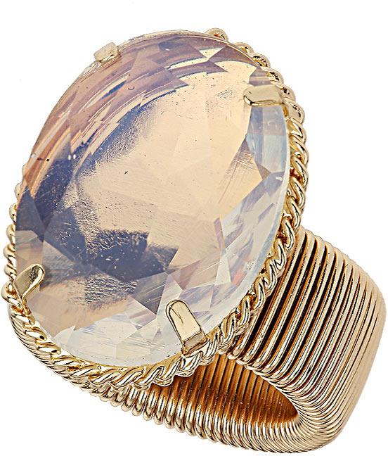 Topshop Premium Statement Stone Spring Bracelet