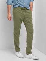 Gap Linen-cotton drawstring slim fit pants