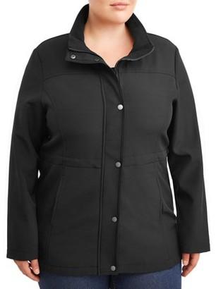Big Chill Women's Plus Hooded Anorak Jacket