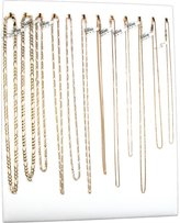 FindingKing 12 Hook Chain Necklace Display Jewelry Easel New