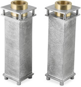 N. Medium Square Candle Holders, Set of 2