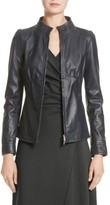 Armani Collezioni Women's Seamed Leather Jacket
