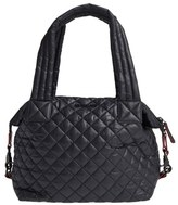 M Z Wallace 'Medium Sutton' Quilted Oxford Nylon Shoulder Tote - Black