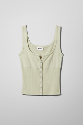 Weekday Alice Knitted Vest - Green