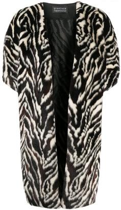 Gianluca Capannolo Oversized Zebra Print Coat
