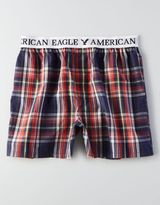 American Eagle AEO Plaid Poplin Boxer