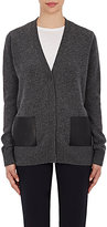 Barneys New York Women's Leather-Pocket Cardigan-DARK GREY