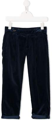 Brunello Cucinelli KIDS corduroy pleated trousers