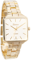 Geneva Platinum Gold Bracelet Watch