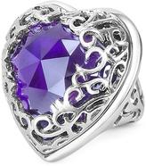 Just Cavalli Deco' - Amethyst Crystal Heart Ring