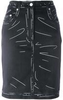 Moschino trompe-l'œil print skirt - women - Cotton/other fibers - 44