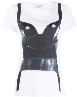 Alexander McQueen corset print T-shirt