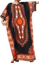 Raan Pah Muang RaanPahMuang Brand Full One Piece Long Afrikan Black Dashiki Sac Dress