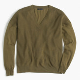 J.Crew V-neck sweater in cotton-merino wool