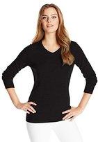 Cutter & Buck Women's Long Sleeve Douglas V-Neck Sweater