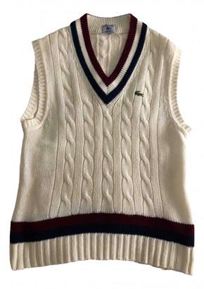 Lacoste White Wool Knitwear & Sweatshirts