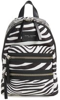 Marc Jacobs 'Mini Biker - Zebra' Backpack - Ivory