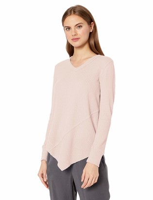 William Rast Women's Frankie Asymmetrical Long Sleeve Vneck Top