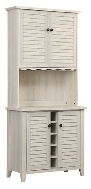 Rosalind Wheeler Bar Cabinet Color: Antique White