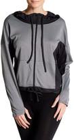 Marika Front Zip Long Sleeve Contrast Hoodie