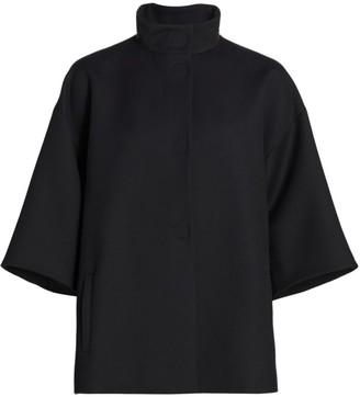 Akris Punto Funnelneck Virgin Wool Coat
