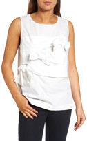 Halogen Bow Front Poplin Top (Regular & Petite)