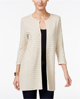 JM Collection Petite Textured Flyaway Cardigan, Only at Macy's