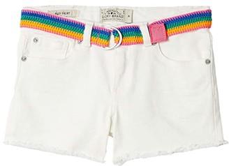 Lucky Brand Kids Chriselda Embroidered Shorts in Natural Wash (Big Kids) (Natural Wash) Girl's Shorts