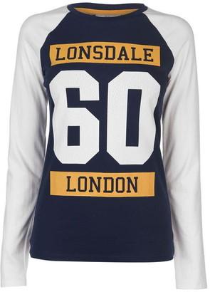 Lonsdale London Raglan Long Sleeve T Shirt Ladies
