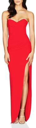 Nookie Bisous Strapless Sweetheart Gown