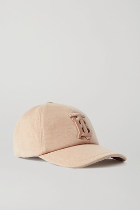 Burberry Appliqued Cotton-jersey Baseball Cap - Beige