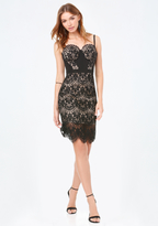 Bebe Clarissa Lace Bustier Dress