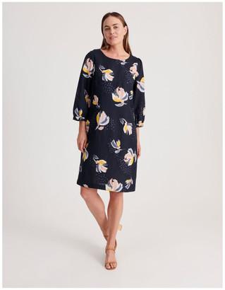 Regatta 3/4 Sleeve Linen Blend Dress