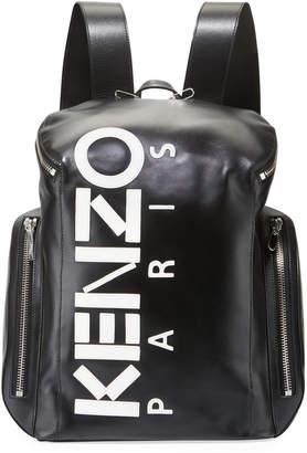 Kenzo Men's Logo Leather Backpack
