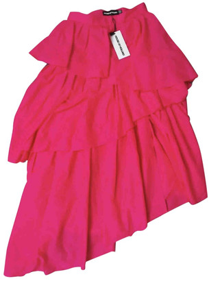 House of Holland Pink Synthetic Skirts