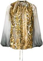 Plein Sud Jeans leopard print ombre blouse