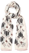 Valentino Love Blade-print silk-chiffon scarf