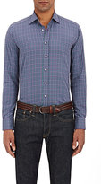 Etro Men's Micro-Checked Button-Front Shirt-PURPLE
