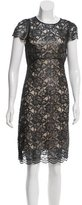 L'Agence Lace Knee-Length Dress