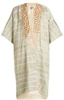 By Walid Aikiko Embroidered Cotton Kimono-style Jacket - Womens - Light Green