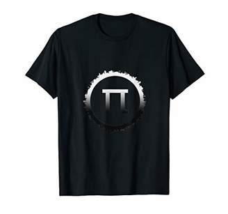 Pi Cool Circle Silhouette Earth With Math For Teacher T-Shirt