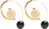 Marni Sphere-drop hoop earrings