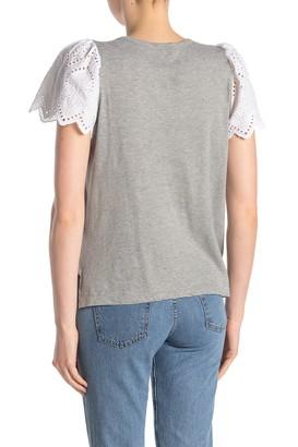 Ella Moss Maisie Eyelet Sleeve T-Shirt