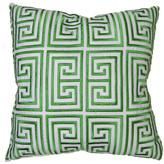 Trina Turk 18x18 Trellis Pillow - Green/White